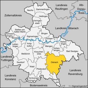 Ostrach - Image: Karte Ostrach