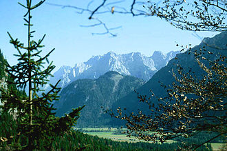 Karwendel - The Northern Karwendel viewed from Wetterstein