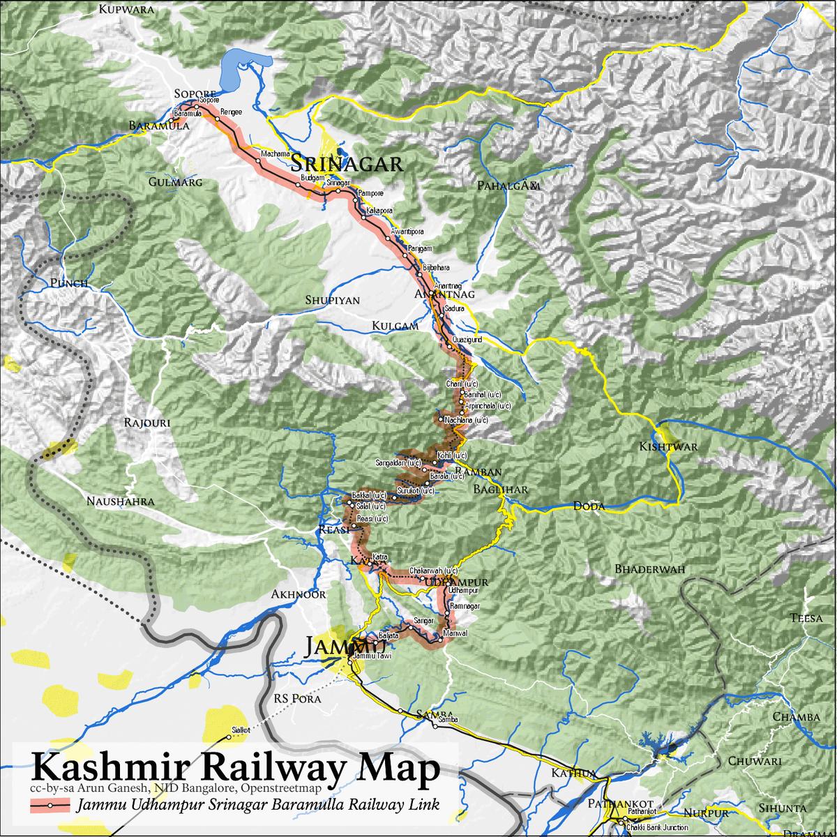JammuBaramulla line  Wikipedia