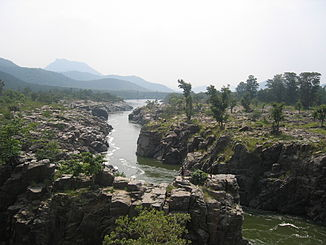 Oberlauf des Kaveri nahe der Grenze zwischen Karnataka und Tamil Nadu