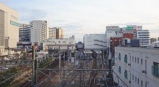 Kawagoe Station Railway station in Kawagoe, Saitama Prefecture, Japan