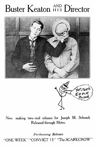 Edward F. Cline - Buster Keaton and Eddie Cline in a 1920 advertisement