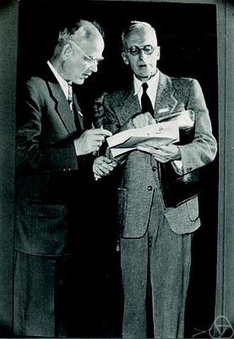 Ott-Heinrich Keller - Ott-Heinrich Keller (left) and Hellmuth Kneser.