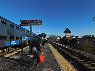 Kenosha station Metra rail station in Kenosha, Wisconsin, United States