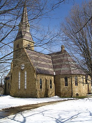 Five Colleges of Ohio - Image: Kenyon College Church of the Holy Spirit