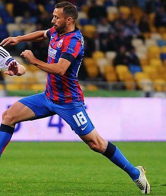 Lucian Sânmărtean - Sânmărtean playing for Steaua București, October 2014.