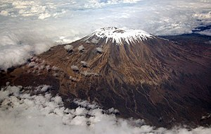 Kilma'njaro, captured out the window of our fl...