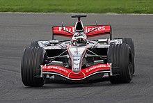 Räikkönen testa la McLaren MP4-21 a Silverstone nel 2006