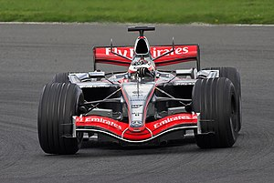 R�ikk�nen testing for McLaren at Silverstone in April 2006.