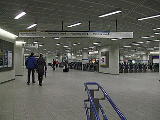 King's Cross St. Pancras tube station - The Northern Ticket Hall, underneath the new Kings Cross concourse, which opened in 2009