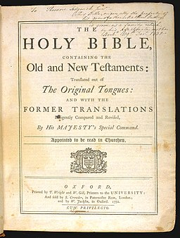 King James Bible 1772 - Title page