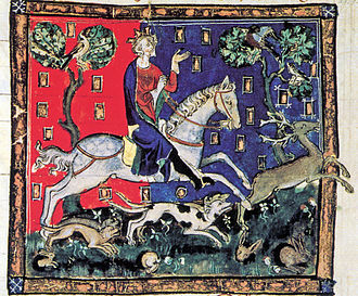 John, King of England - John on a stag hunt