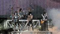 Kiss playing at the Sauna Open Air 2010 concert in Tampere, Finland during their Sonic Boom Over Europe tour.