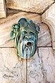 Klagenfurt Innere Stadt Schillerpark Fluderbrunnen Bronze-Maske 03122018 5554.jpg