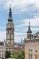 Klagenfurt Pfarrkirche hl. Egid Glockenturm NO-Ansicht 23052020 9073.jpg