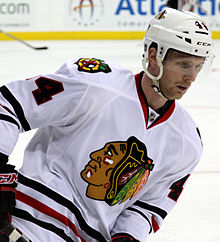 Description de l'image Klas Dahlbeck - Chicago Blackhawks.jpg.