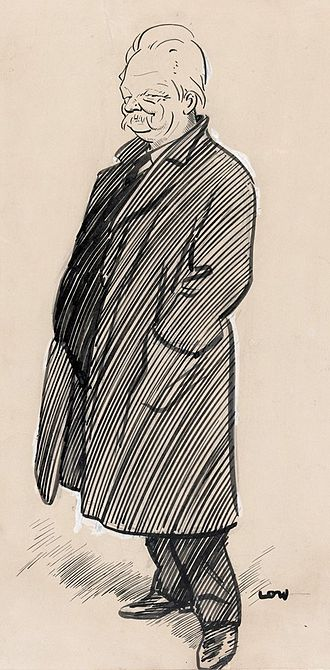 George Handley Knibbs - Caricature of George Knibbs by David Low, 1919