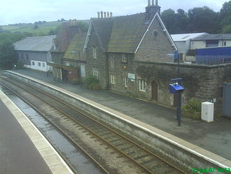 Knighton railway station - Image: Knighton Railstn