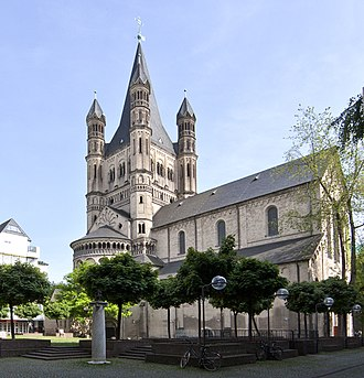 Great St. Martin Church, Cologne - Image: Koeln gross st martin