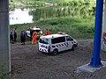 Komořany, auta ŘSD pod Radotínským mostem.jpg