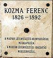Kozma Ferenc emléktáblája Kossuth Lajos tér 11.JPG