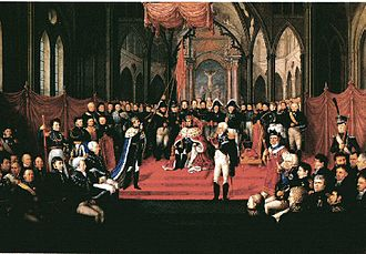 Coronations in Norway - Coronation of Charles III John in Nidaros Cathedral 1818, by Jacob Munch