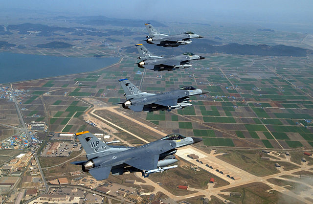 F-16 Falcons soar over South Korea Falcons soar over Kunsan AB.