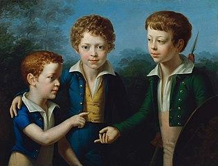 Albert, Moritz und Leopold von Neuwall