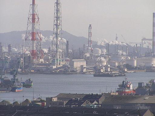 Kurashiki city mizushima industrial area
