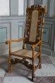 Länstol av bonad valnöt, 1600-talets sista hälft - Skoklosters slott - 103742.tif