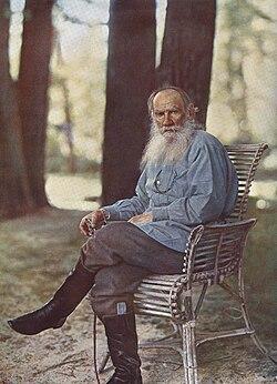 Léon Tolstoï Photographié par Sergueï Prokoudine-Gorski.