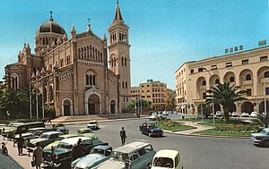 Christianity in Libya - The Cathedral of Tripoli in the 1960s.