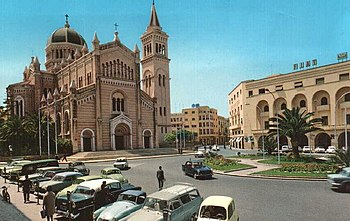English: the former Tripoli Cathedral, and Alg...