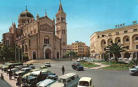 The Cathedral of Tripoli in the 1960s. LA CATTEDRALE DI TRIPOLI 1960.jpg