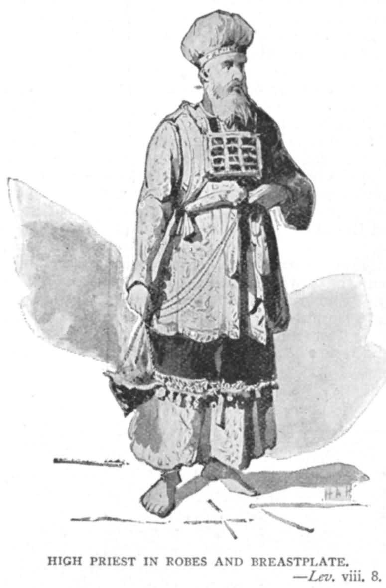 LEV 8- High priest in robes and breastplate