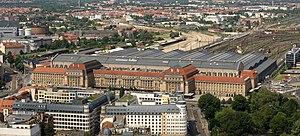 Leipzig Hauptbahnhof - View from City-Hochhaus