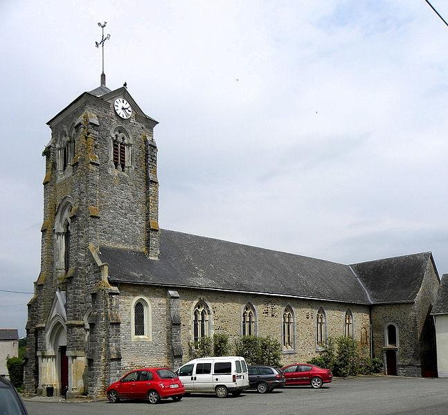 Église Saint-Gervais et Saint-Protais de La Bazouge-de-Chemeré (53).