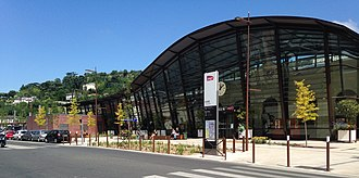 Gare d'Agen - The station from the parking