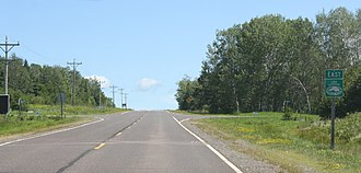 Great Lakes Circle Tour - The Lake Superior Circle Tour in northern Wisconsin on Highway 13