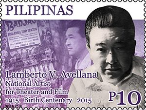 Lamberto V. Avellana - Image: Lamberto V. Avellana 2015 stamp of the Philippines