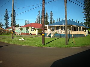 Lanai - Image: Lanai city houses