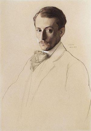 Eugene Lanceray - Portrait of Lanceray (1907), by Konstantin Somov.
