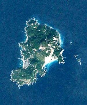 Kōzu-shima - Landsat image of Kōzu-shima