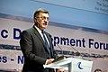Latvijas Ministru prezidents Valdis Dombrovskis, Lietuvas Ministru prezidents Aļģirds Butkevičs (Algirdas Butkevičius) un Igaunijas premjerministrs Andruss Ansips (Andrus Ansip) apmeklē Baltijas attīstības forumu (8887719343).jpg