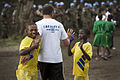 Launching of a soccer school by MONUSCO Urugayan peacekeepers in Don Bosco college Goma (14065014774).jpg