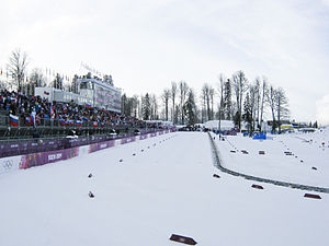 Laura Biathlon & Ski Complex during 2014 Winter Olympics (ski stadium).JPG