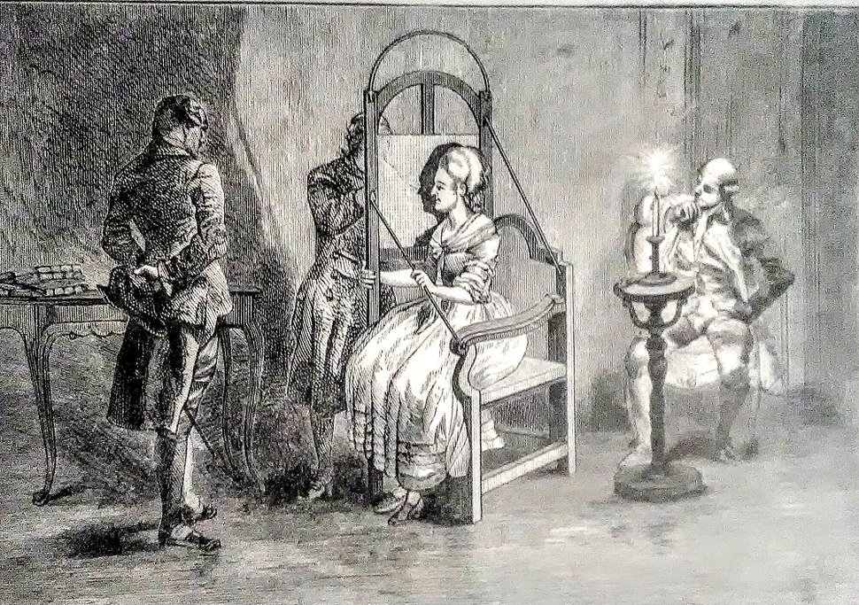 Lavater's Apparatus for Taking Silhouettes.--(From an ancient engraving of 1783)