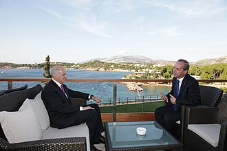 Lawrence Gonzi - Lawrence Gonzi meeting with Greek prime minister, George Papandreou.