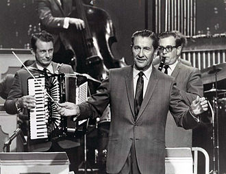 Myron Floren - Floren (left) with Welk (center) in 1969.
