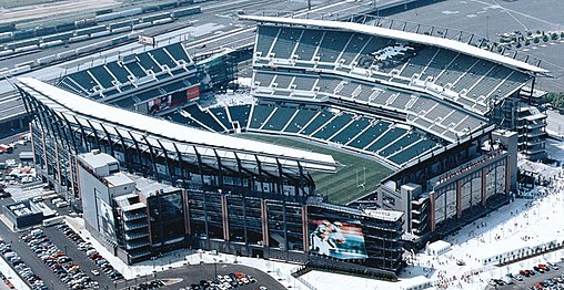 Lincoln Financial Field has been the Eagles home field since 2003 Le Lincoln Financial Field (cropped).jpg